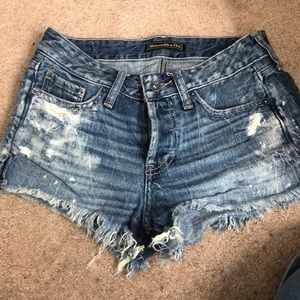 Abercrombie & Fitch distressed cutoff shorts